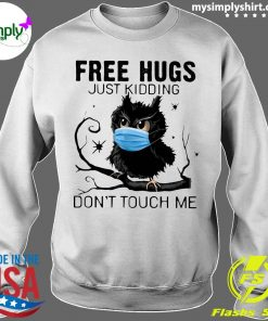 Owl Face Mask Free Hugs Just Kidding Don't Touch Me Shirt Sweater
