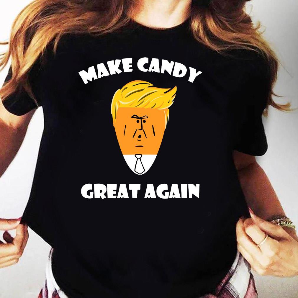 President Trump 2020 Halloween Make Candy Corn Great Again Shirt Ladies tee