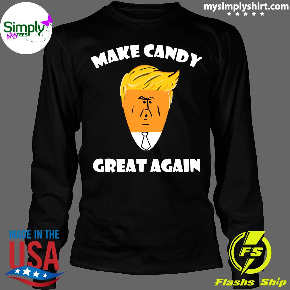 President Trump 2020 Halloween Make Candy Corn Great Again Shirt Longsleeve