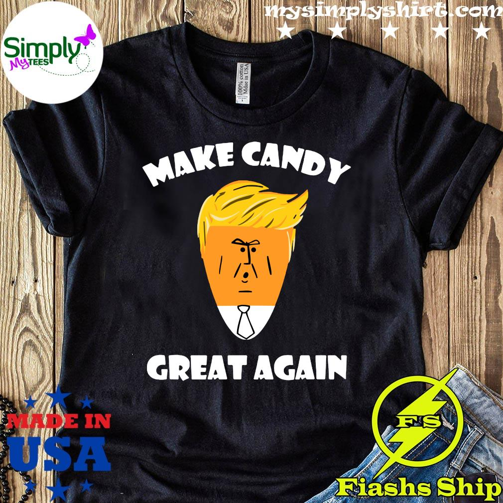 President Trump 2020 Halloween Make Candy Corn Great Again Shirt