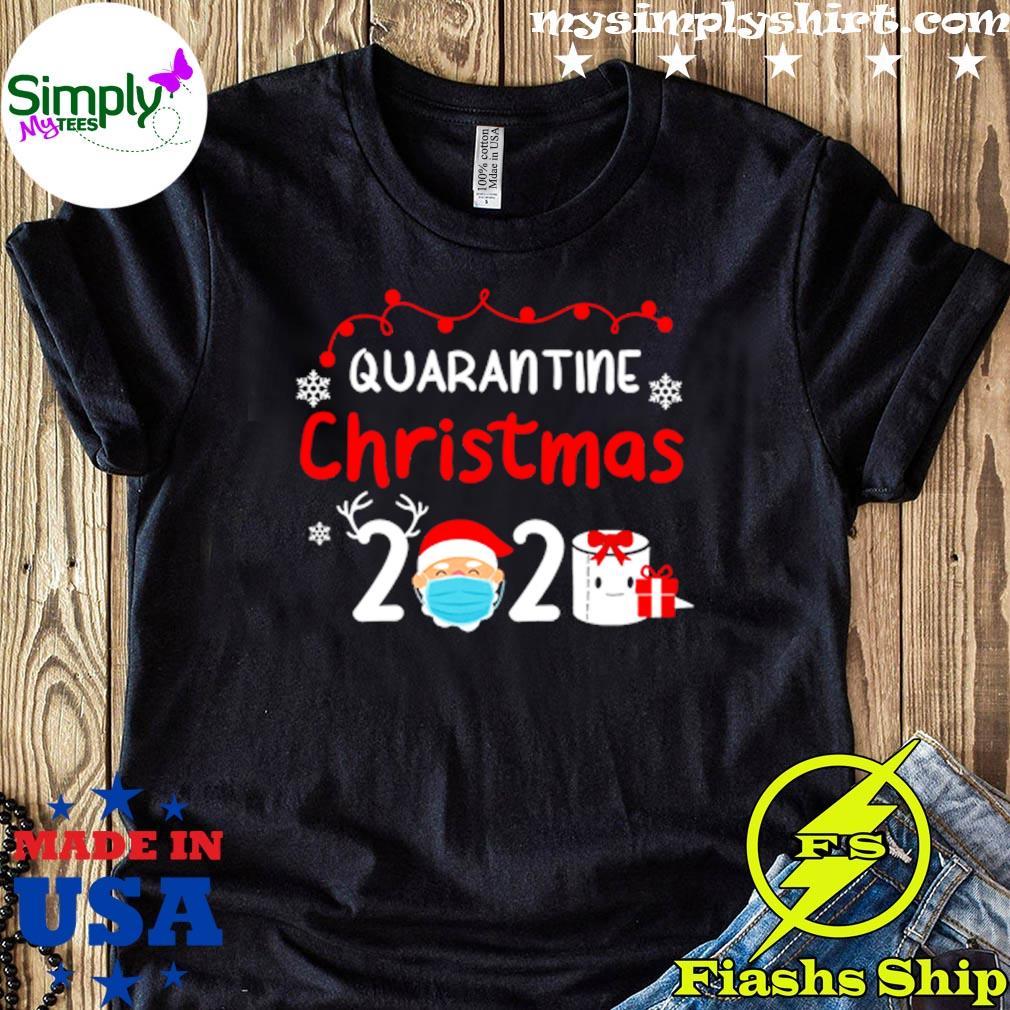 Quarantine Christmas 2020 Reindeer Santa Shirt