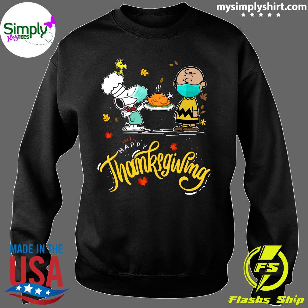 Snoopy And Charlie Brown Face Mask Happy Thanksgiving Shirt Sweater