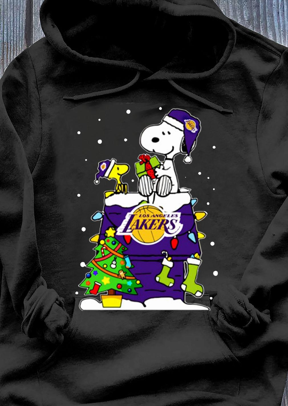 Snoopy Lakers Ugly Christmas Shirt Hoodie