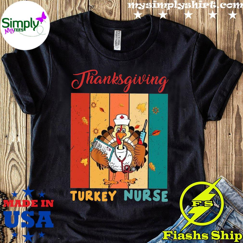 Thanksgiving Turkey Nurse Vintage Shirt