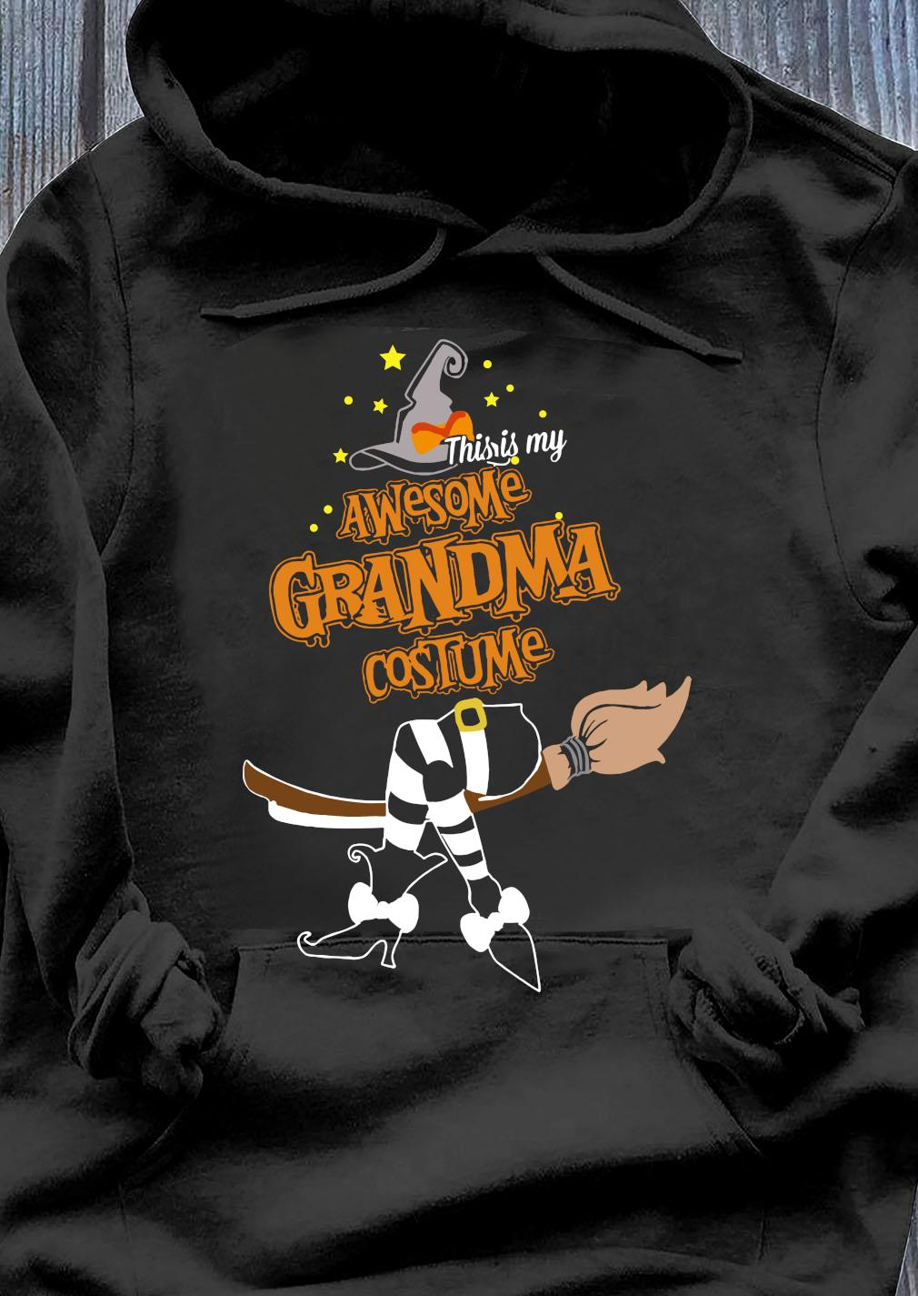This Is My Awesome Grandma Costume Halloween Shirt Hoodie