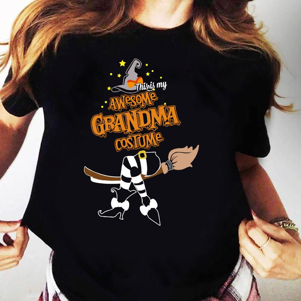 This Is My Awesome Grandma Costume Halloween Shirt Ladies tee