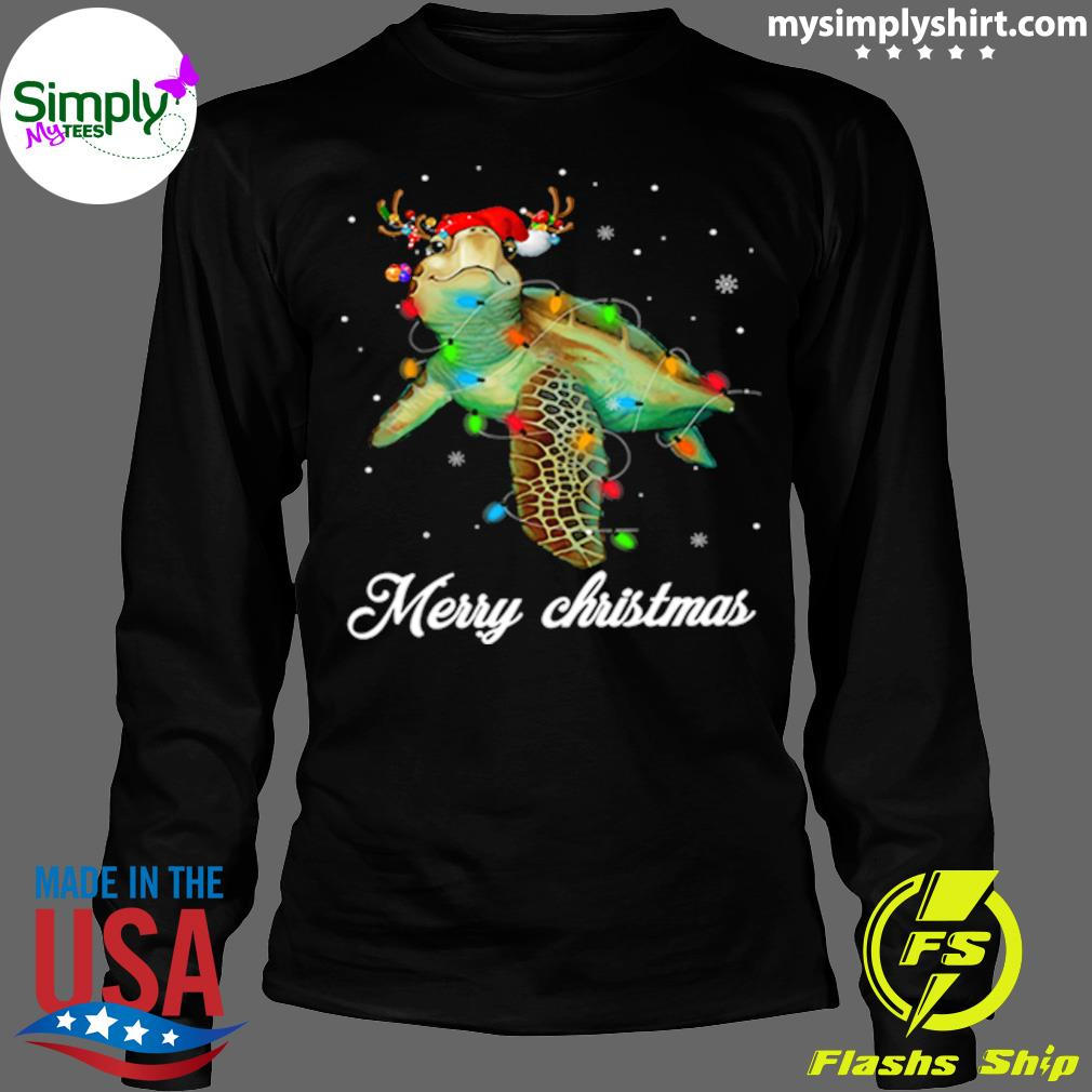 Turtle Light Merry Christmas Shirt Longsleeve