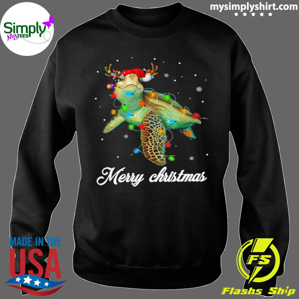 Turtle Light Merry Christmas Shirt Sweater