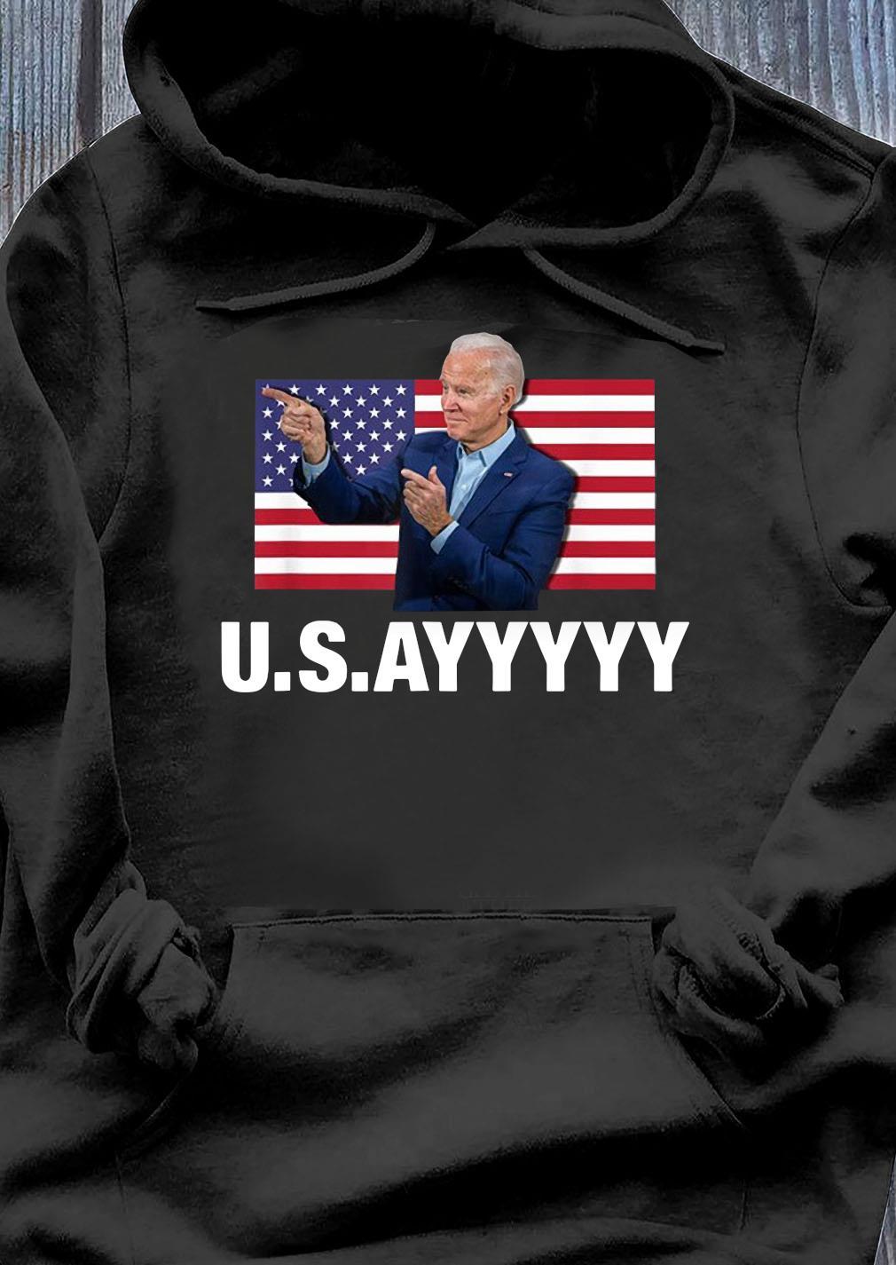 Usayyyyy Usa Joe Biden American Flag Winner Democrat Shirt Hoodie