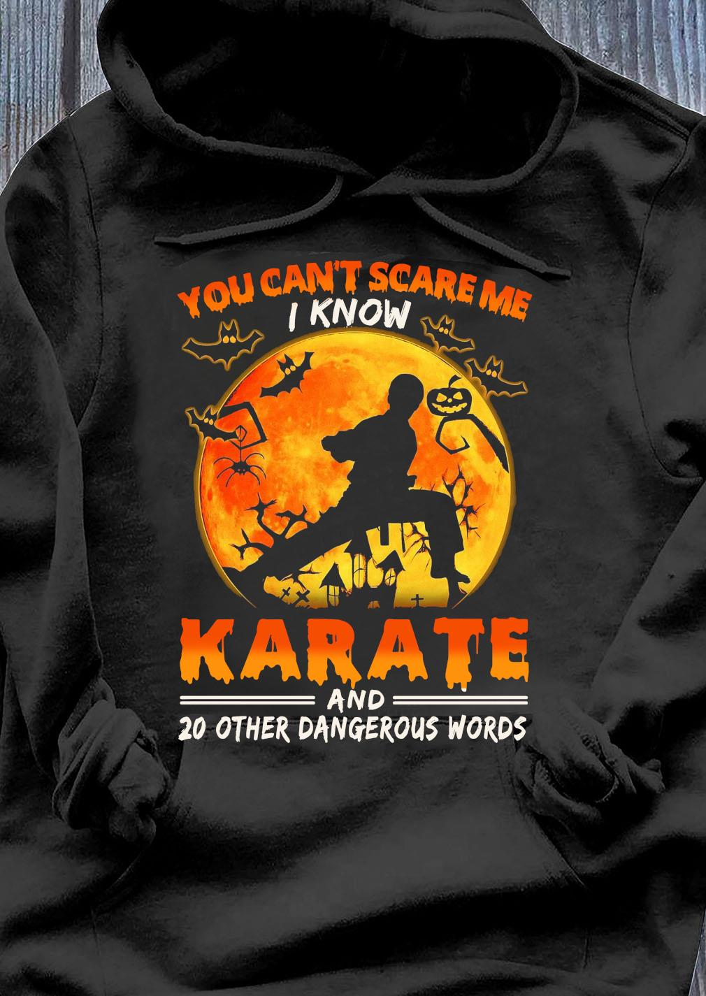 You Can't Scare Me I Know Karate And 20 Other Dangerous Words Shirt Hoodie