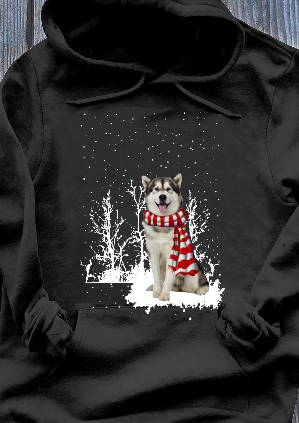 Alaskan Malamute Merry Christmas Shirt Hoodie