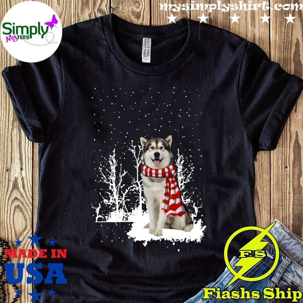 Alaskan Malamute Merry Christmas Shirt