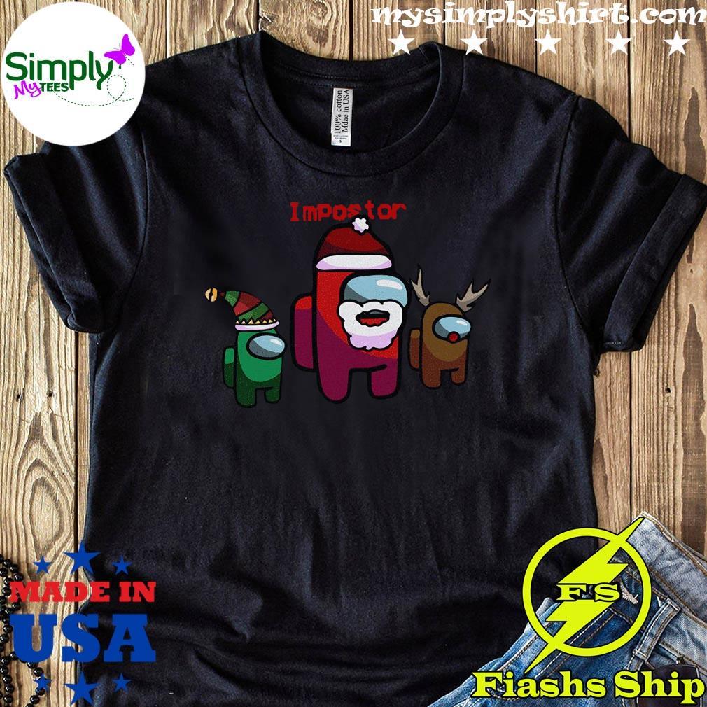 Among Us Christmas Impostor Among Us Sus Santa 2020 Holiday Xmas Shirt