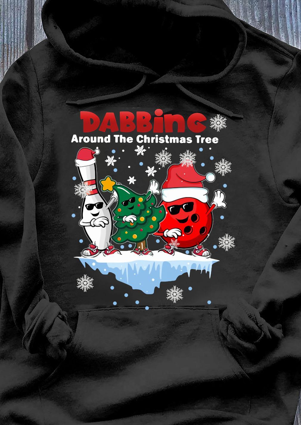 Boling Dabbing Around The Christmas Tree Shirt Hoodie