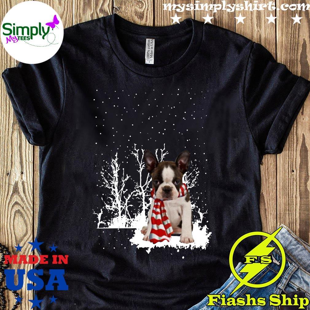 Boston Terrier Merry Christmas Shirt