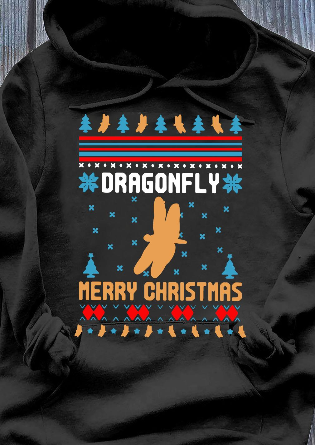 Butterfly Dragonfly Merry Ugly Christmas Sweats Hoodie