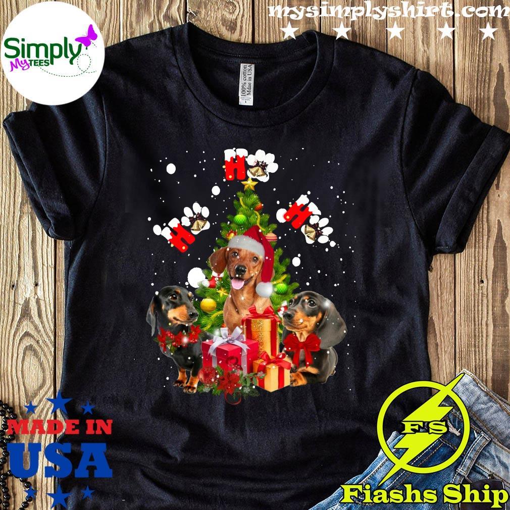 Dachshund Ho Ho Ho Christmas Tree Shirt