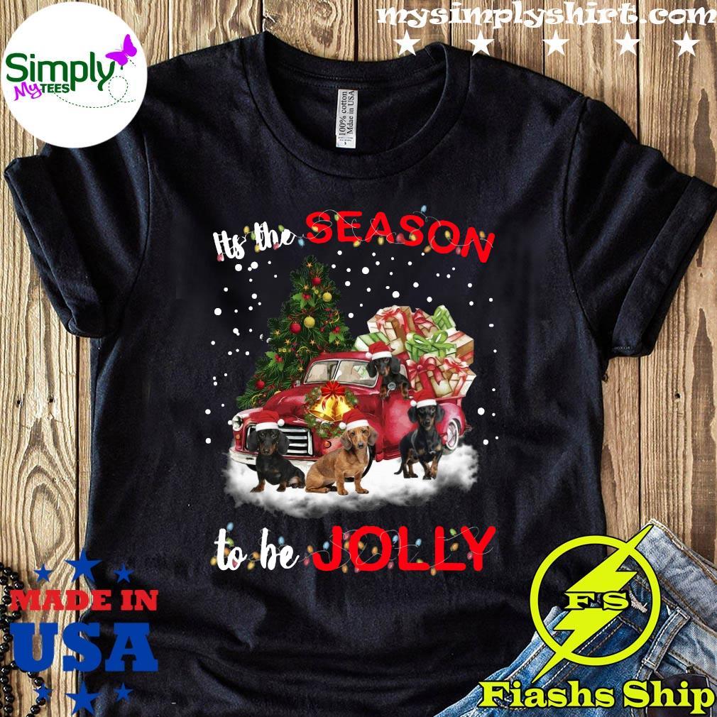 Dachshund It's The Season To Be Jolly Christmas Tree Shirt
