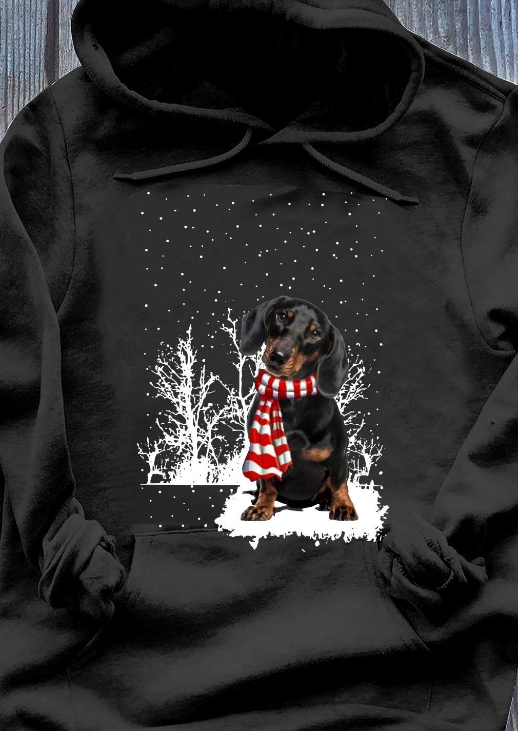 Dachshund Merry Christmas Shirt Hoodie