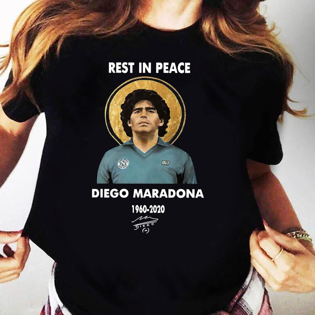 IIR Diego Maradona Napoli T-Shirt Rest in Peace 1960-2020 Football Legend Size S-3XL