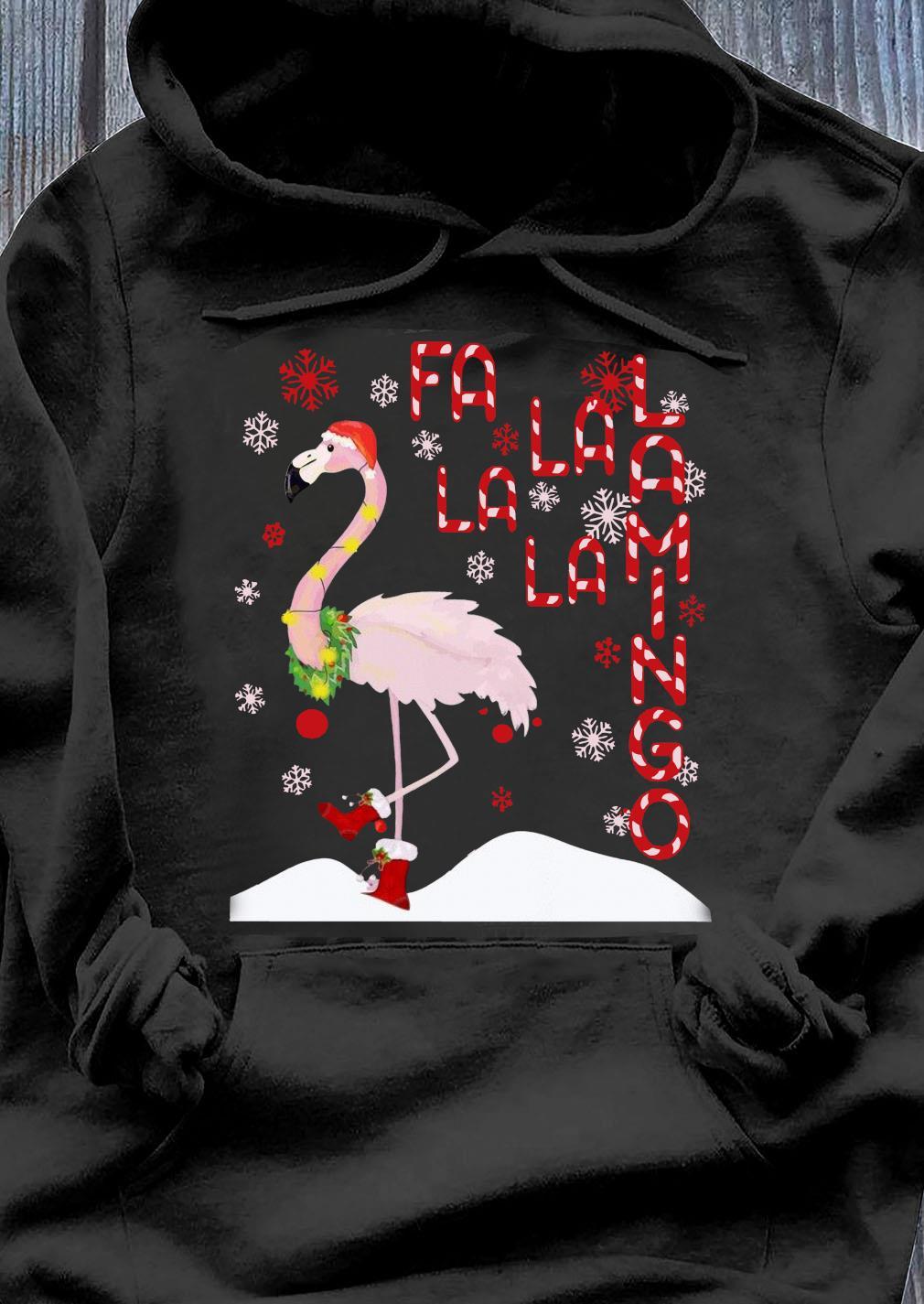 Fa La La Lamingo Xmas Merry Christmas Shirt Hoodie