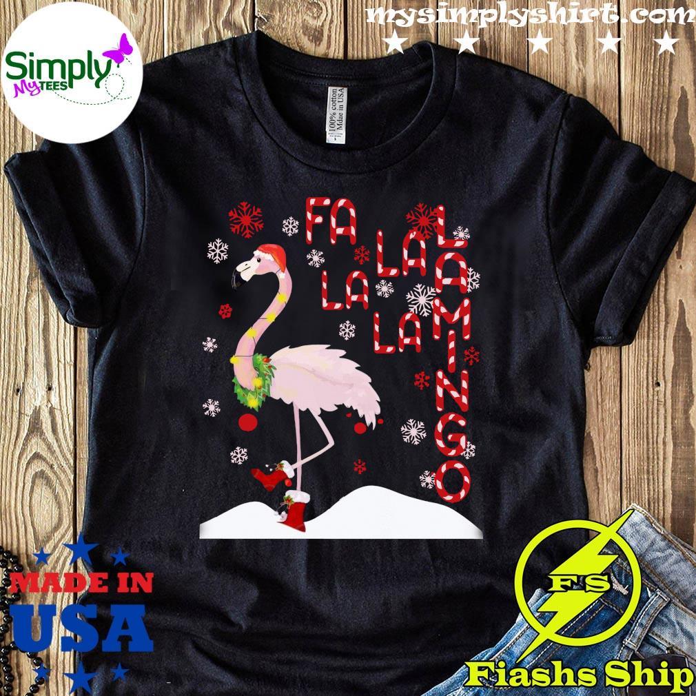 Fa La La Lamingo Xmas Merry Christmas Shirt
