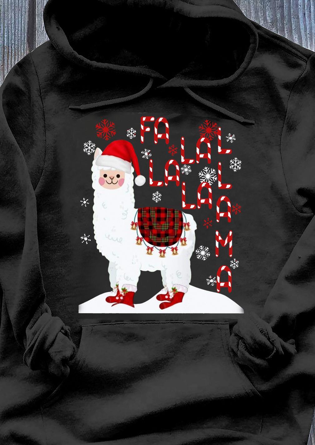 Fa La La Llama Xmas Merry Christmas Shirt Hoodie