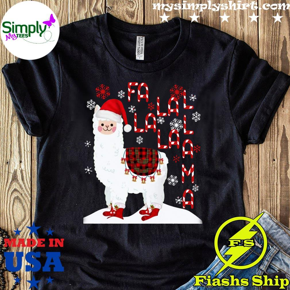 Fa La La Llama Xmas Merry Christmas Shirt
