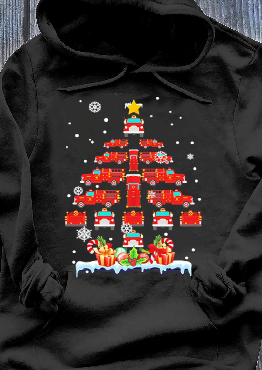 Firefighter Merry Xmas Christmas Sweater Hoodie