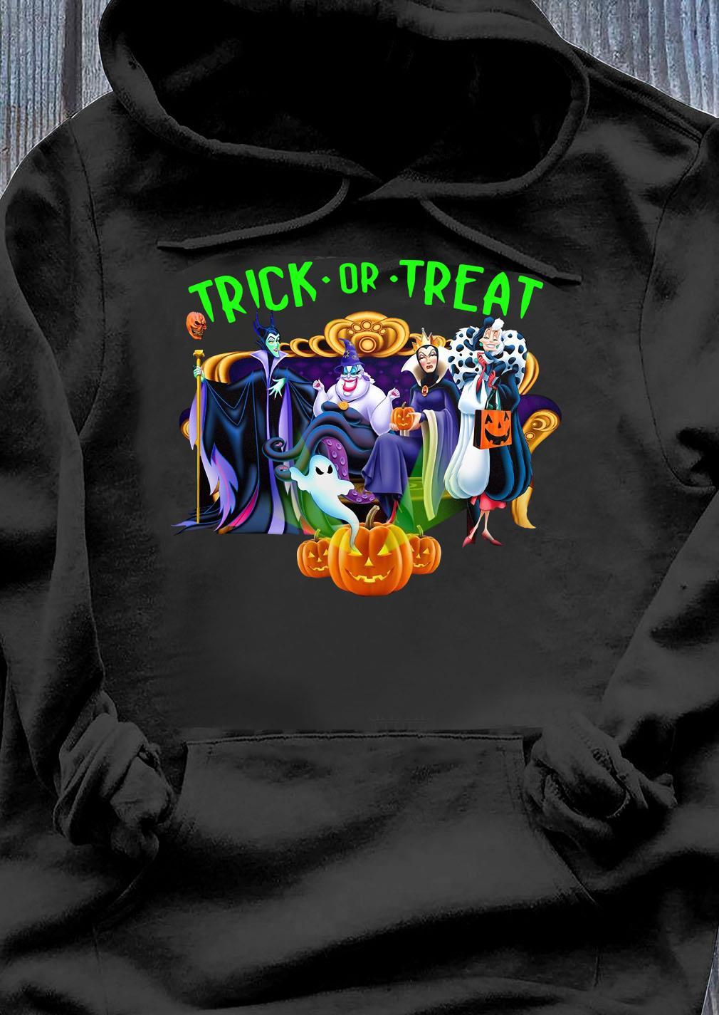 Friends Disney Villanos Trick Or Treat Shirt Hoodie