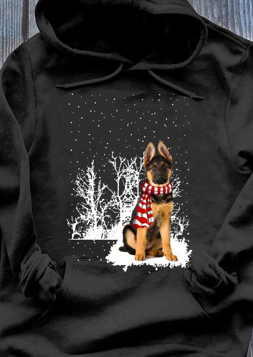 German Shepherd Merry Christmas Shirt Hoodie
