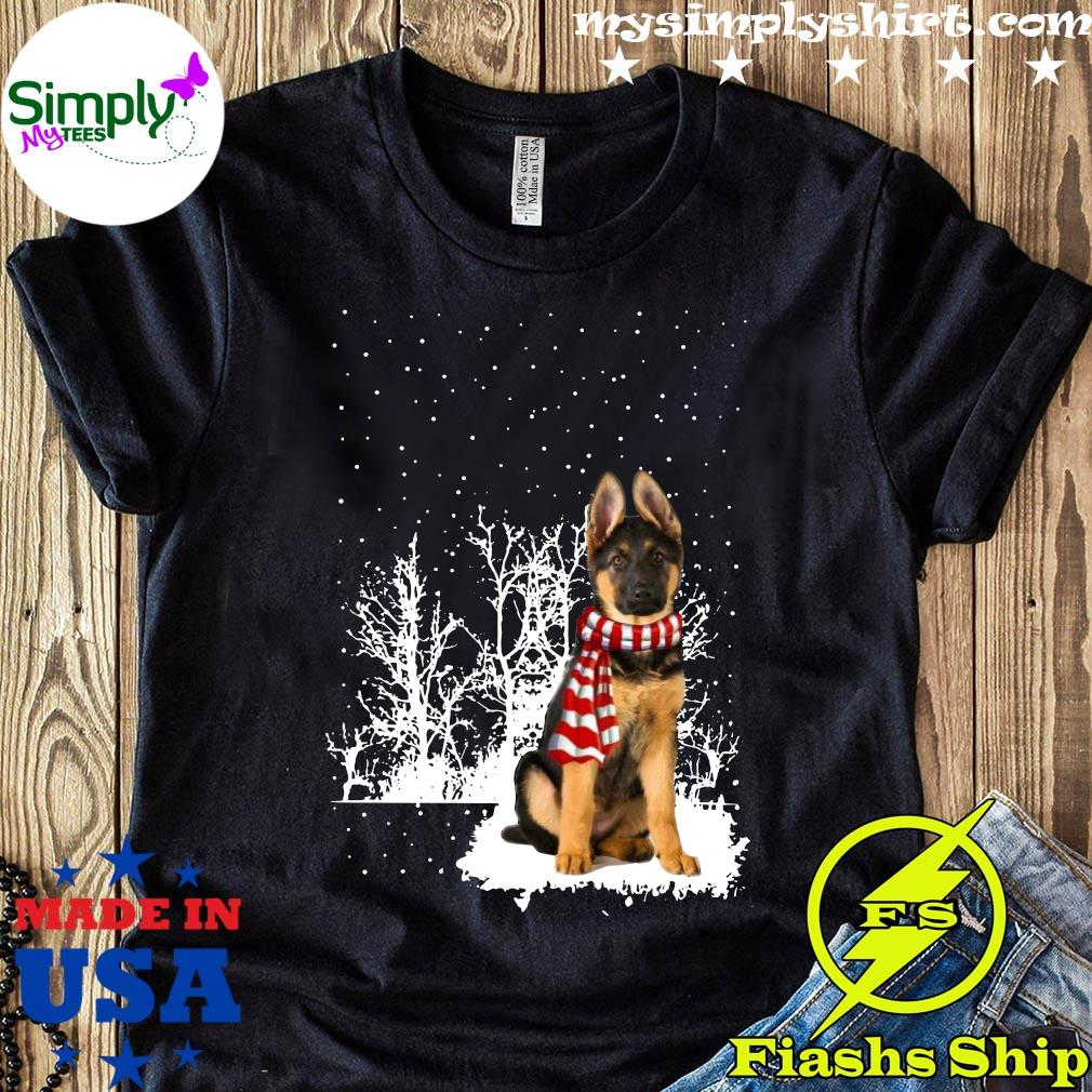 German Shepherd Merry Christmas Shirt