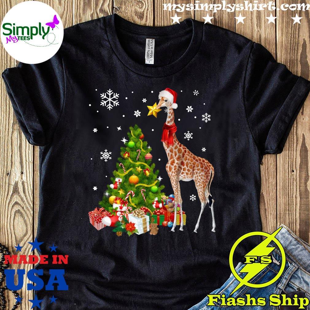 Giraffe Ornament Decoration Christmas Tree Crewneck Sweatshirt