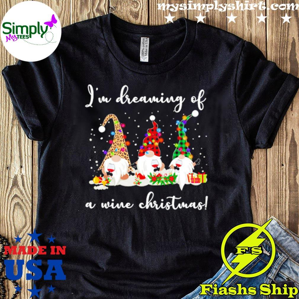 Gnome Im Dreaming Of A Wine Christmas Sweater