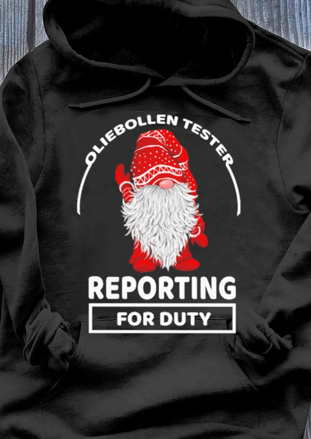 Gnome Oliebollen Tester Reporting For Duty Christmas Sweater Hoodie