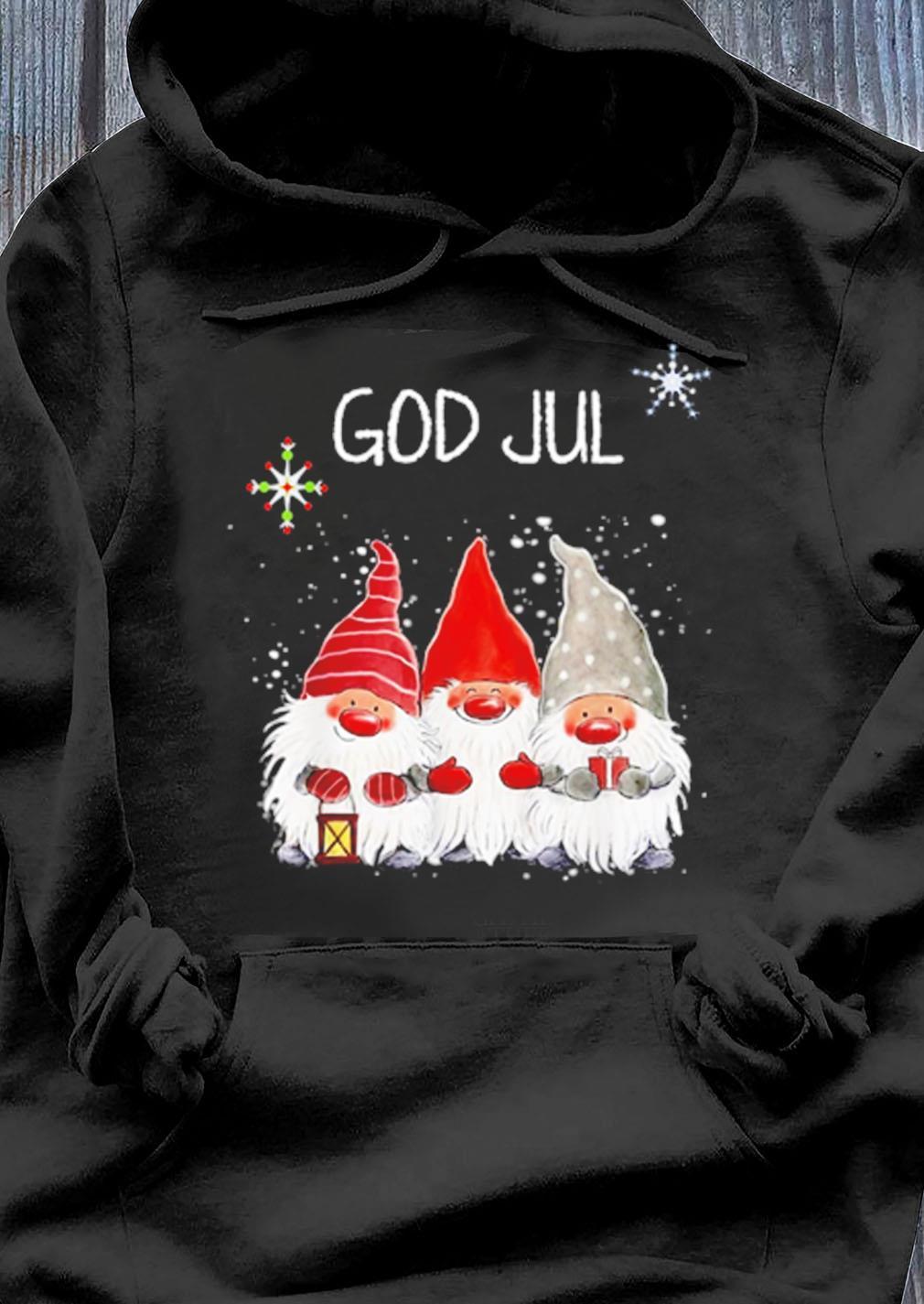 Gnomes God Jul Norwegian Christmas Sweater Hoodie