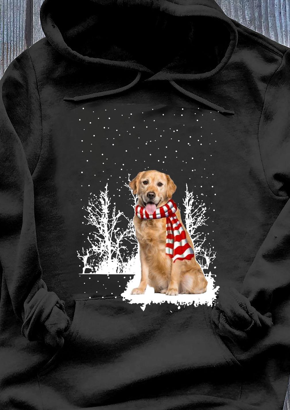Golden Retriever Merry Christmas Shirt Hoodie