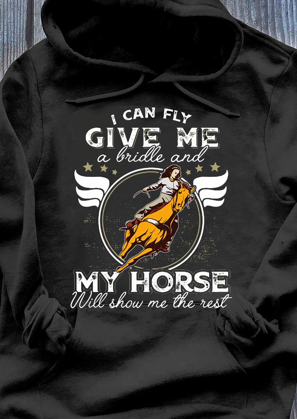 I Can Fly Give Me A Brille And My Horse Will Show Me The Rest Shirt Hoodie