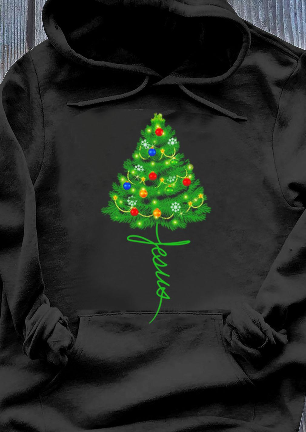 Jesus Christmas Tree Sweater Hoodie
