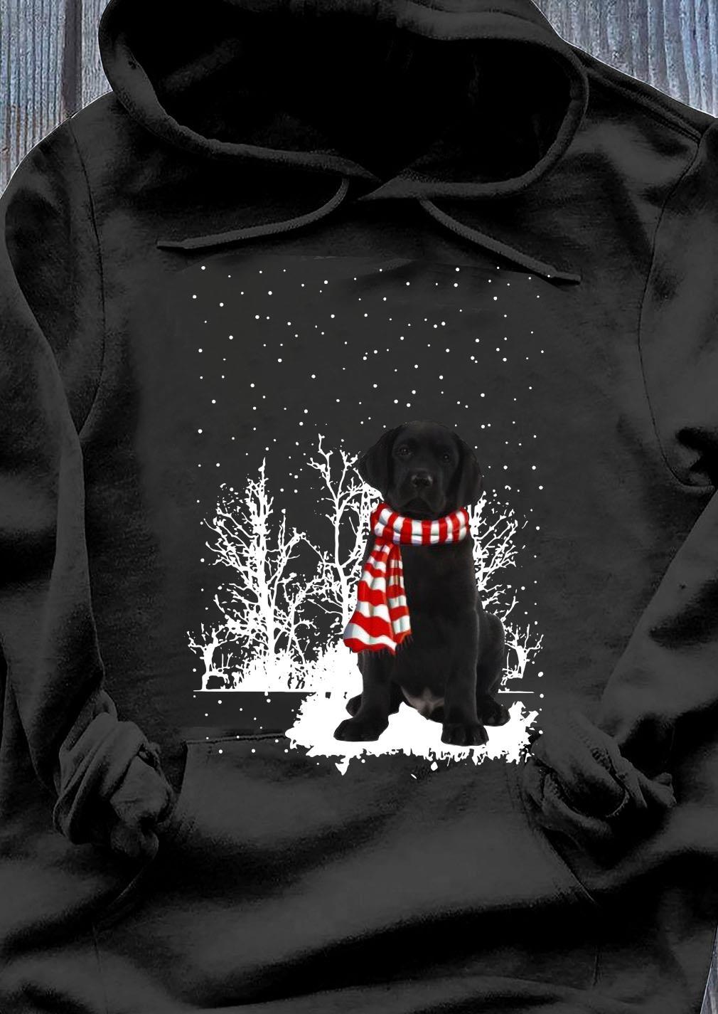 Labrador Merry Christmas Shirt Hoodie