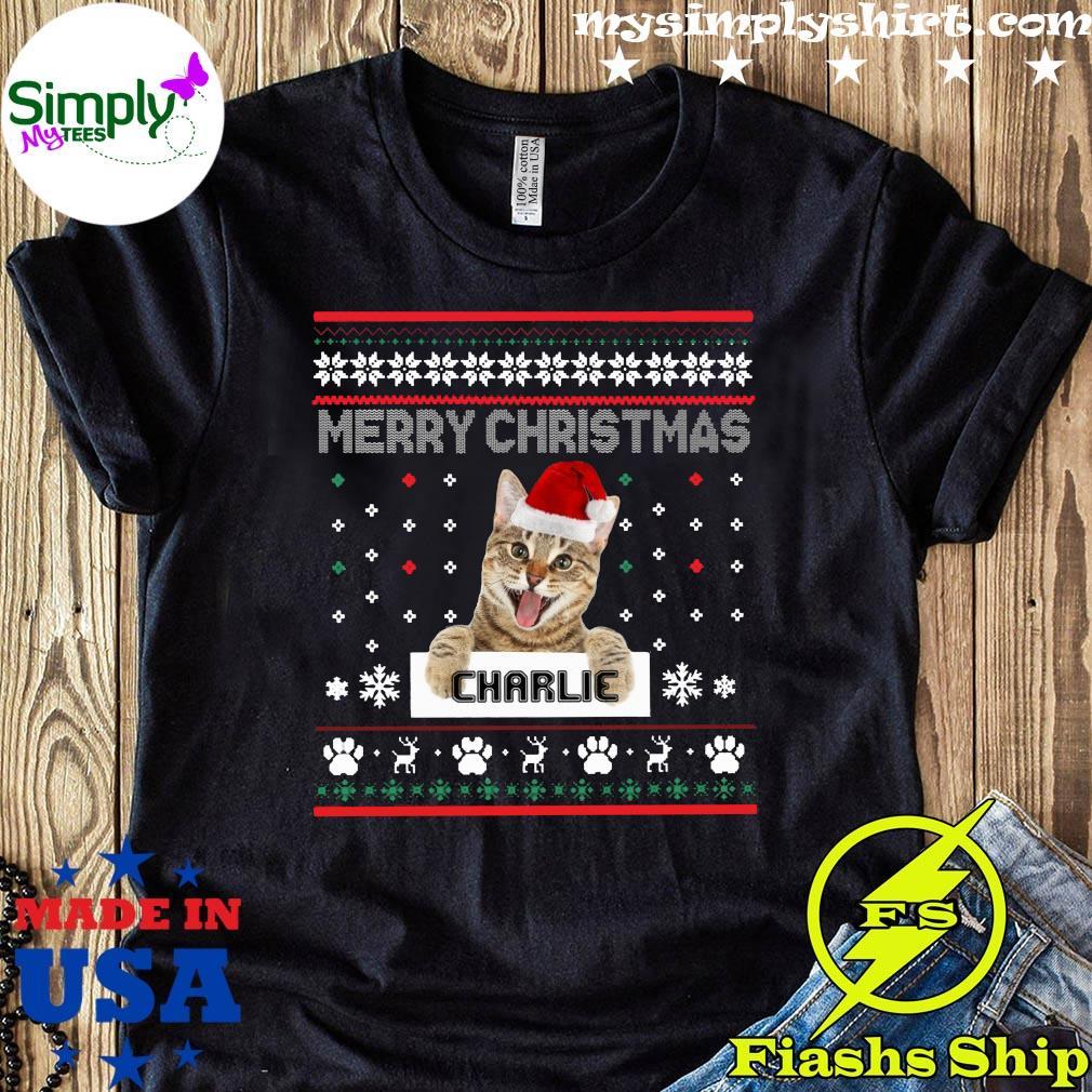 Merry Christmas Santa Cat Charlie Ugly Shirt