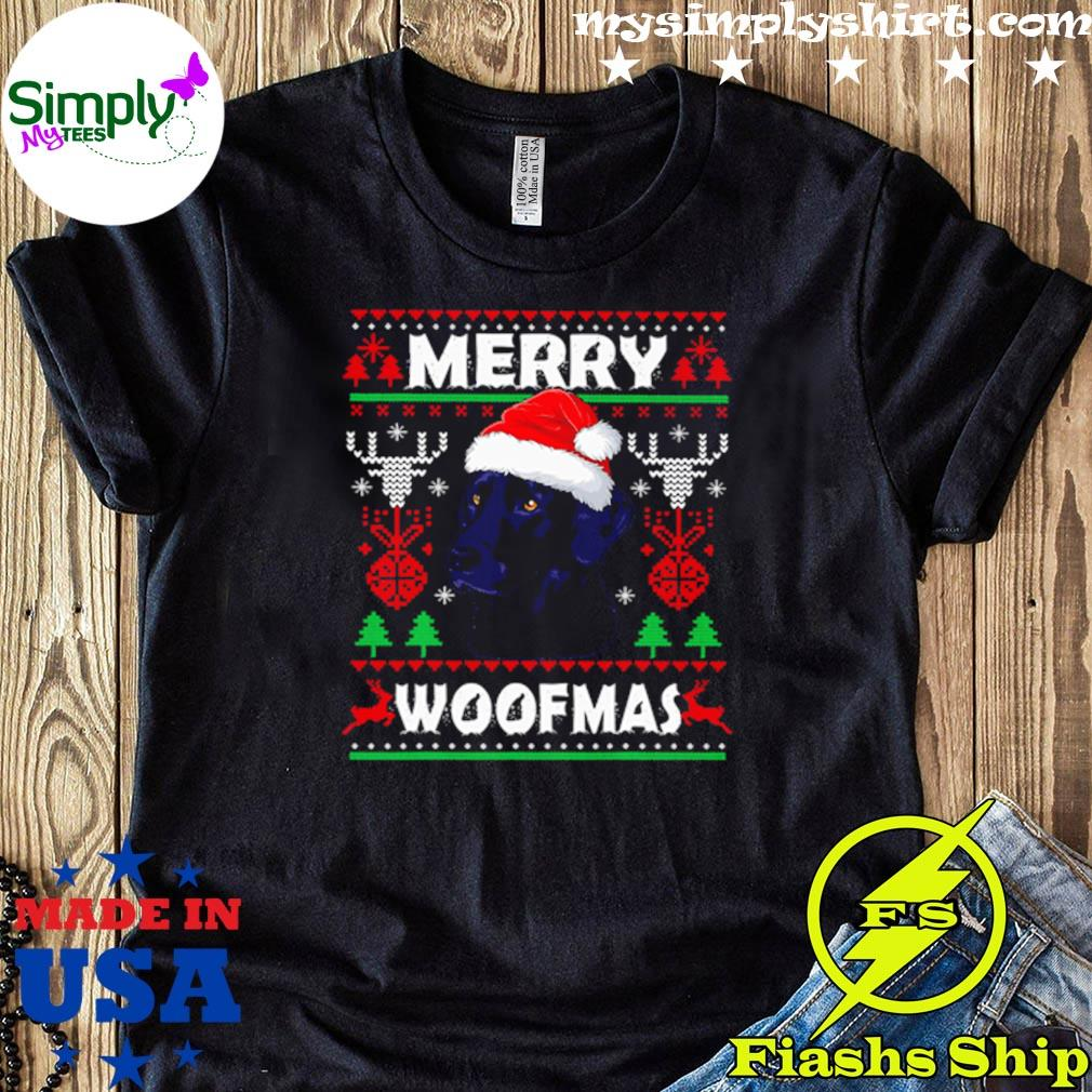 Merry Woofmas Black Labrador Ugly Christmas Sweater