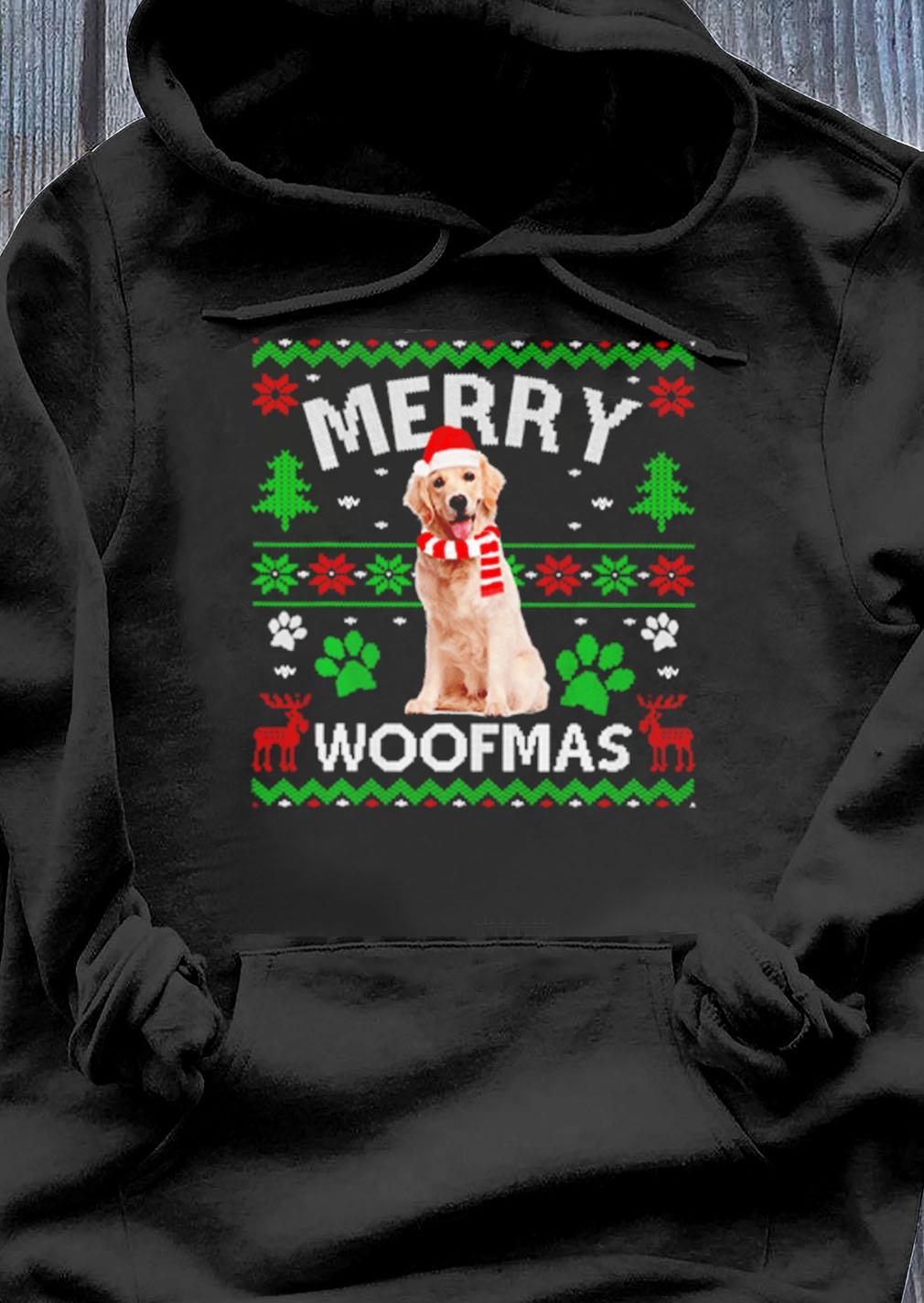 Merry Woofmas Labrador Ugly Christmas Sweater Hoodie