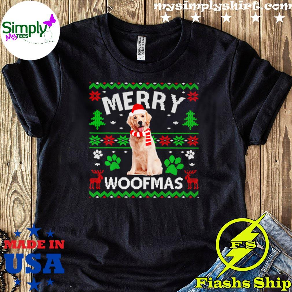 Merry Woofmas Labrador Ugly Christmas Sweater