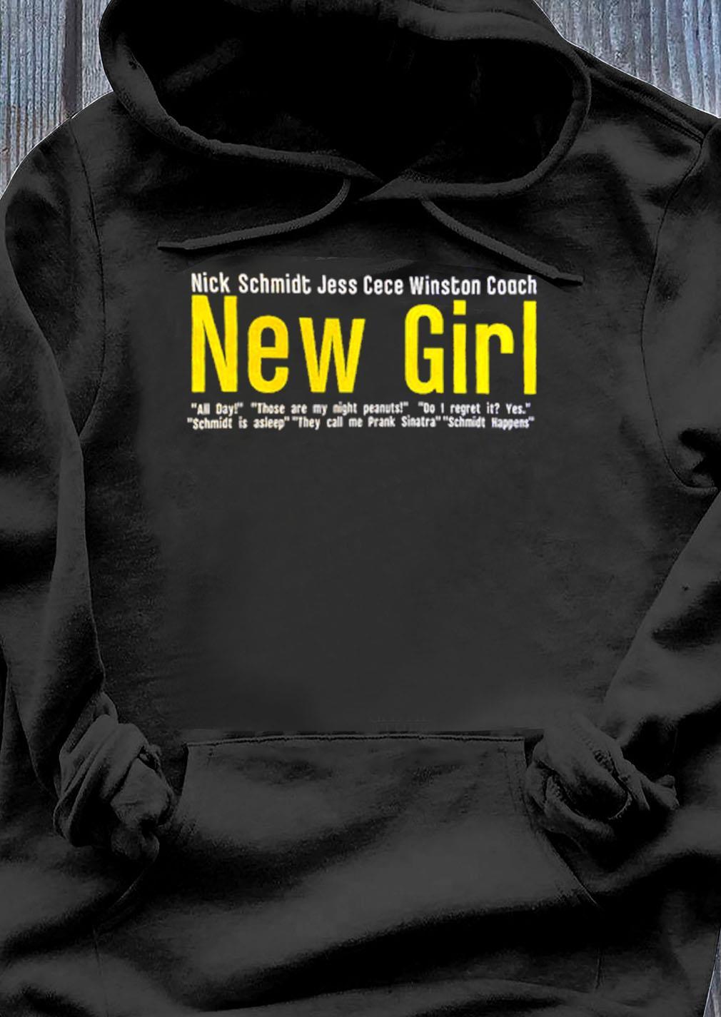 Nick Schmidt Jess Cece Winston Coach New Girl Shirt Hoodie