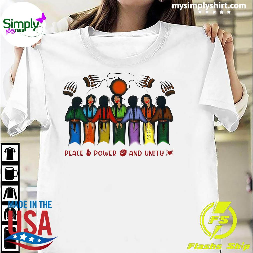 Peace Power And Unity Tee Shirt