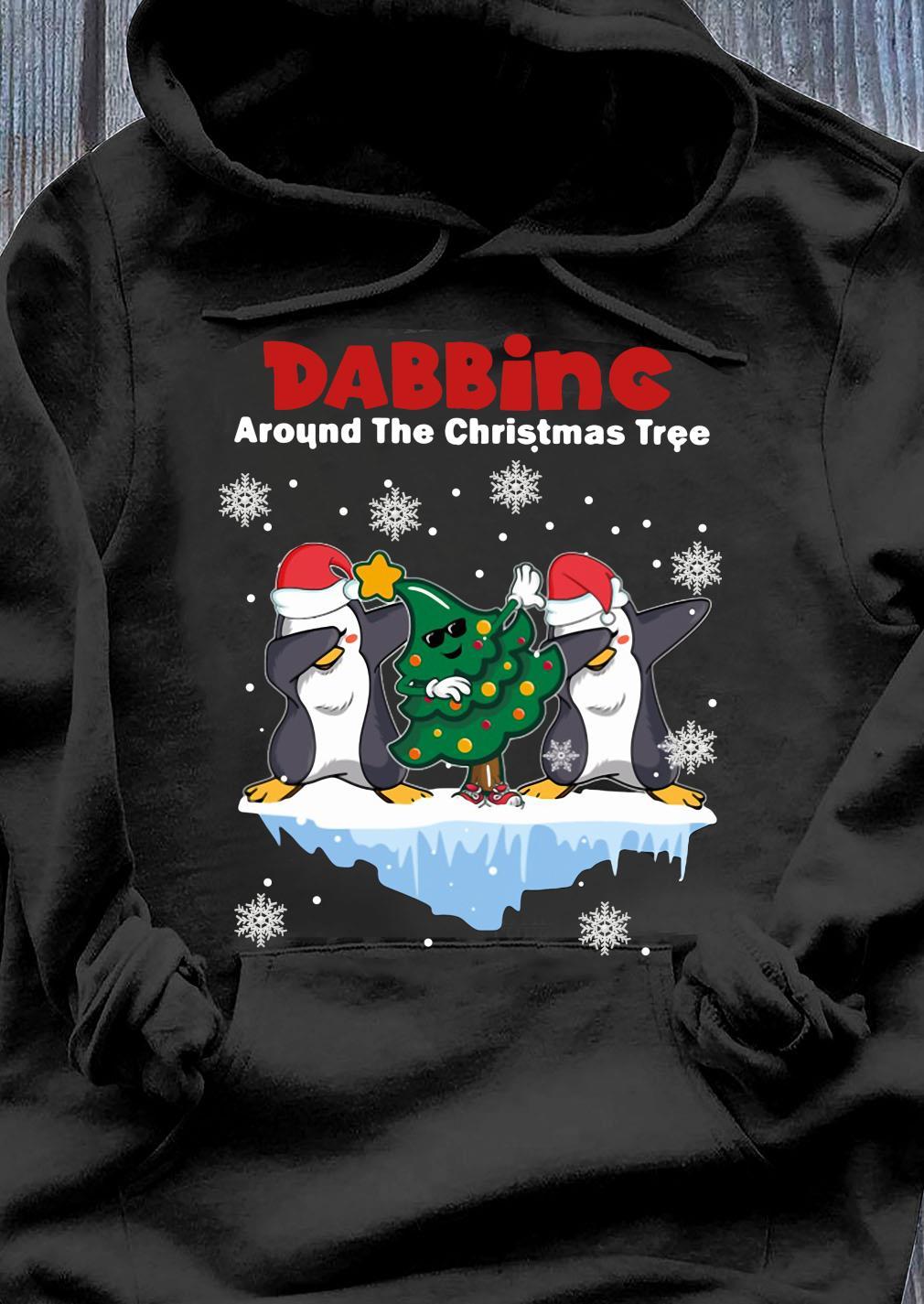 Penguins Dabbing Around The Christmas Tree Shirt Hoodie