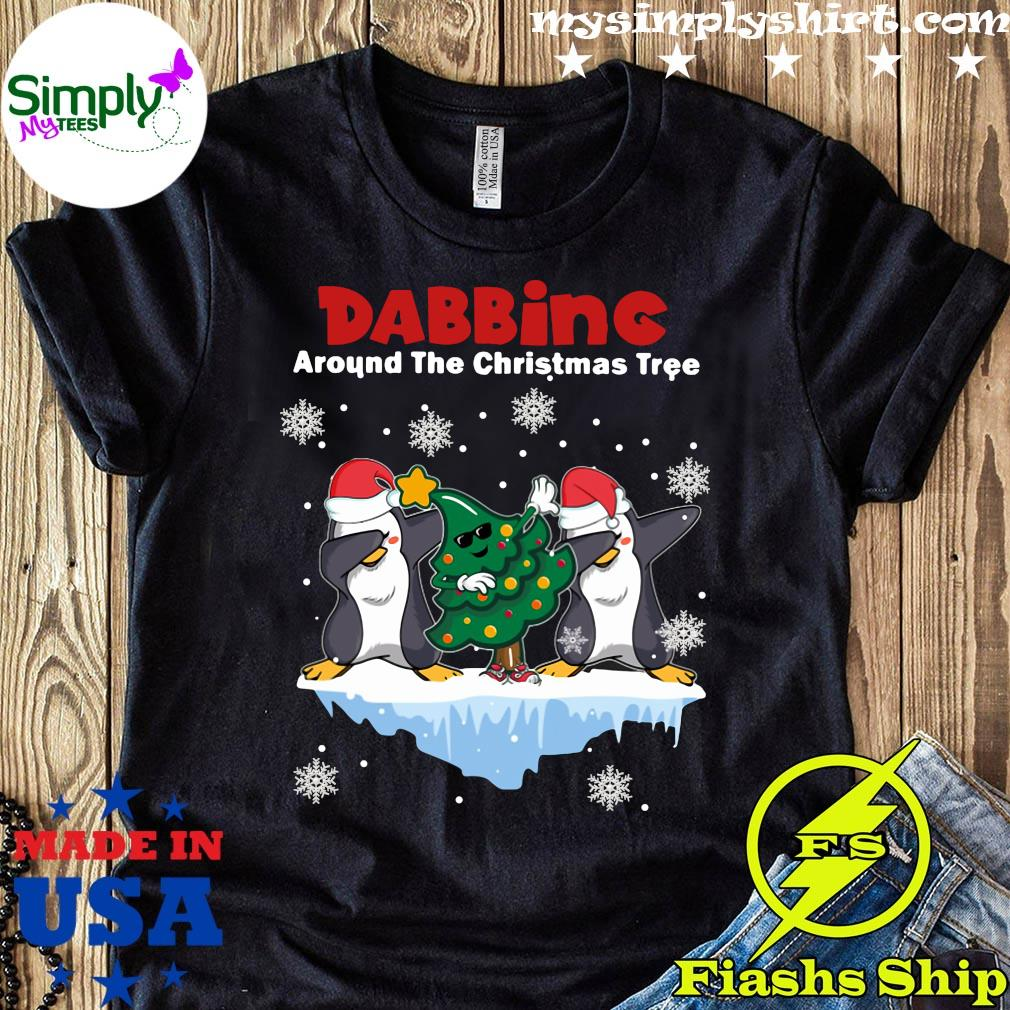 Penguins Dabbing Around The Christmas Tree Shirt