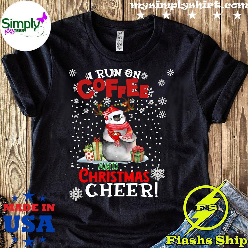 Penguins I Run On Coffee Christmas Cheer Sweatshirt