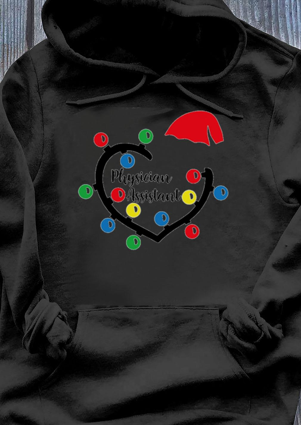 Physician Assistant Heart Christmas Lights Sweater Hoodie